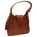 Concealed Carrie Leather Hobo Crocodile Print Finish