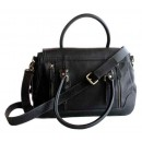 Concealed Carrie Leather Satchel Aged Black