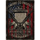"Rivers Edge Embossed Sign 12""x 17"" Guardians Of Constitution"