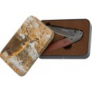 Bg Knife Whitetail Tin W/ Russ Kommer Design Knife