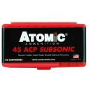 Atomic Ammunition .45ACP Subsonic 250Gr. Bonded JHP 50-Pack