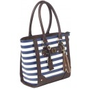 Bulldog Concealed Carrie Purse Tote Style Navy Stripe