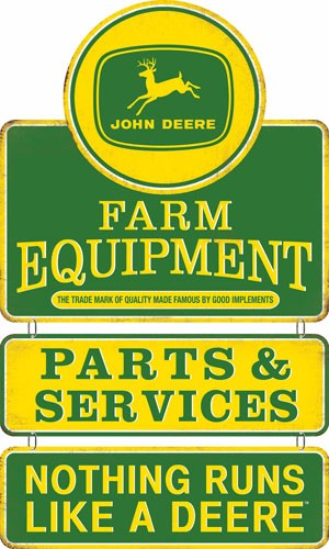 Open Road Brands Linked Emb Tin Sign John Deere Equipment