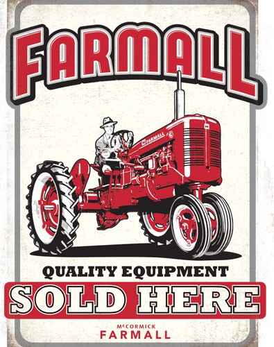 Open Road Brands Die Cut Tin Sign Farmall Quality Sold Here
