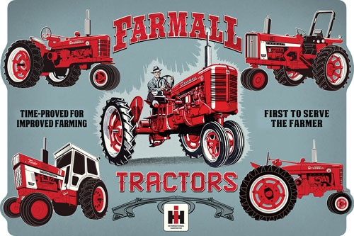 Open Road Brands Die Cut Tin Sign Farmall Evolution