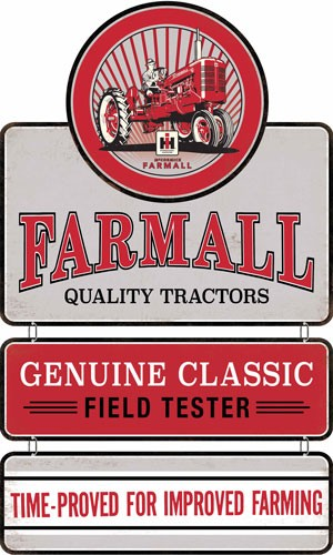 Open Road Brands Linked Emb Tin Sign Farmall Linked Sign