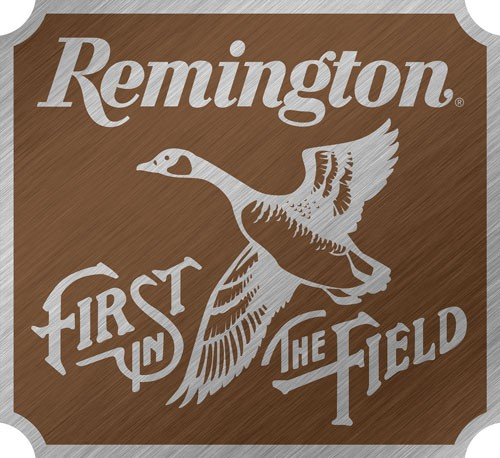Open Road Brands Burnished Emb Tin Sign Remington First In F