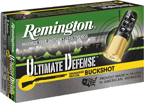"Rem Ammo Ultimate Home Defense R.recoil 12ga. 2.75"" 00bk 5-p"
