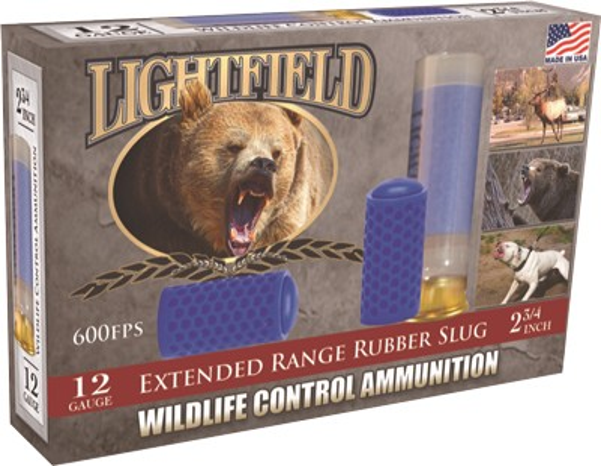 "Lightfield 12ga 2-3/4"" X-range Rubber Slug  5 Pack"