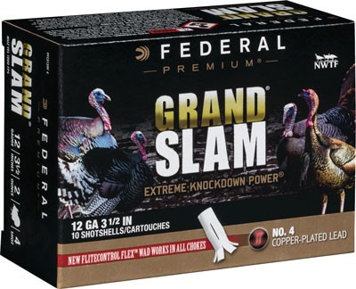 "Federal Cartridge Ammo Grandslam 12ga. 3.5"" 2oz. #4 10-pack"