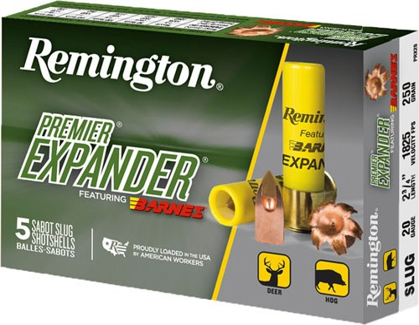 "Rem Ammo Premier Slug 20ga. 2.75"" 1450fps. 250gr. Tsx 5-pk"