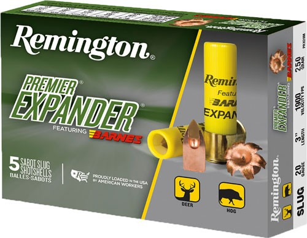 "Rem Ammo Premier Slug 20ga. 3"" 1850fps. 250gr. Tsx 5-pk"