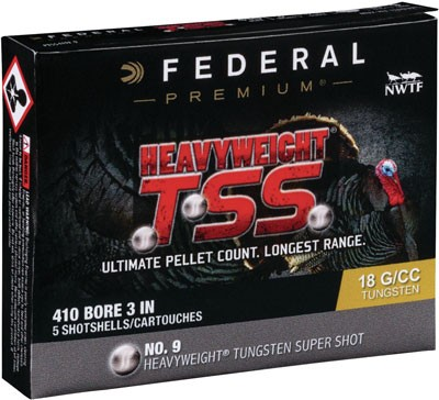 "Federal Cartridge Ammo Heavyweight Tss .410 3"" 13/16oz. #9 5-pack"