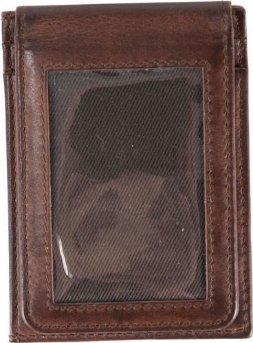 Browning Men's Brass Buck Card Master Dark Brown Money Clip