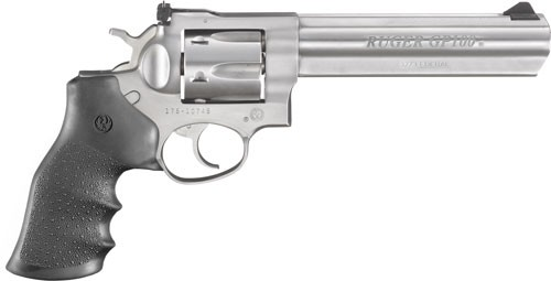"""Ruger Gp100 .327 Federal 6"""" As Stainless Hogue Monogrip"""