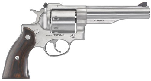 """Ruger Redhawk .357mag 5.50"""" As Stainless Wood 8-shot"""
