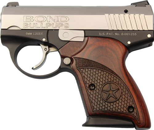 """Bond Arms Arms Bullpup 9mm 3.35"""" Two-tone Rosewood Grips"""