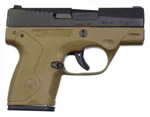 "Beretta Nano 3"" Barrel FS 8-Shot Black Matte/Flat Dark Earth 9mm"