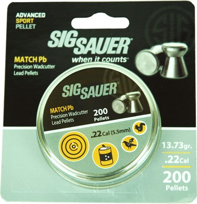Sig Pellet .22 Match 13.73gr Lead Alloy 200 Per Tin