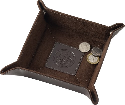 "Beretta Valet Tray 3.5""hx9/16"" Deep Brown Leather"