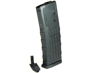 Red White and Blue MAG AR15 30RD POLY NON DROP FREE BLACK