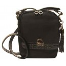 Concealed Carrie Crossbody Compact Crocodile Black