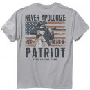 """Buck Wear T-shirt """"never Apologize"""" S-sleeve Silver Lg"""