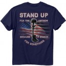"""Buck Wear T-shirt """"stand Up"""" S-sleeve Navy Large"""