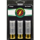 "Exotic Twin Thruster 12 Ga 2 3/4"" 2-1 Oz Slugs 3-pk"