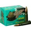 Brown Bear 7.62x39 123Gr. FMJ 500Rd Case