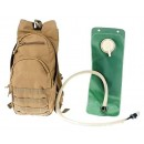 Drago Gear Hydration Pack Tan W/3-Liter Water Bladder