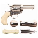 "Cimarron Firearms Co Doc Holliday Combo .45LC FS 3.5"" Nickel Tru-Ivory"
