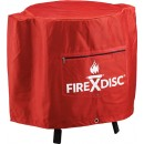 """Firedisc Cookers 24""""pvc Firemn Red Weatherproof Cover W/logo"""